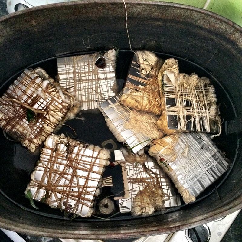 cauldron eco bundled textiles india flint workshop 2015