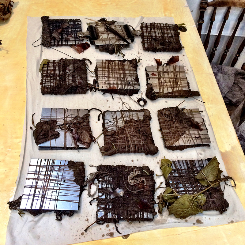 collection eco bundled textiles india flint workshop 2015