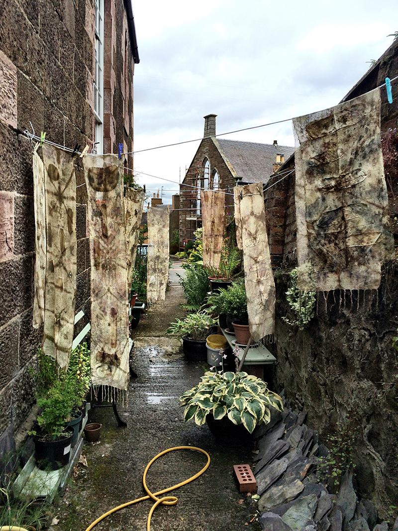 eco bundled textiles india flint workshop 2015 washing line big cat textiles newburgh