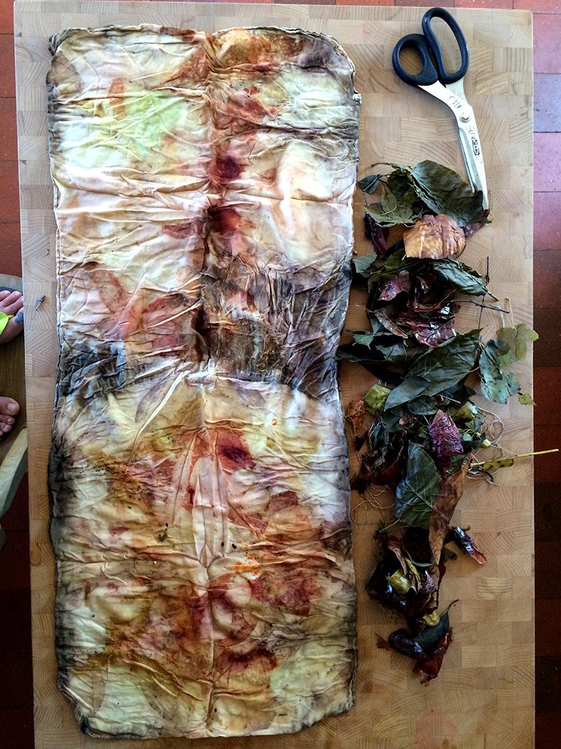 ecoprint silk scarf justine aldersey williams