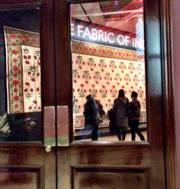 The Fabric of India exhibition at the Victoria and Albert Museum London Jan 2016
