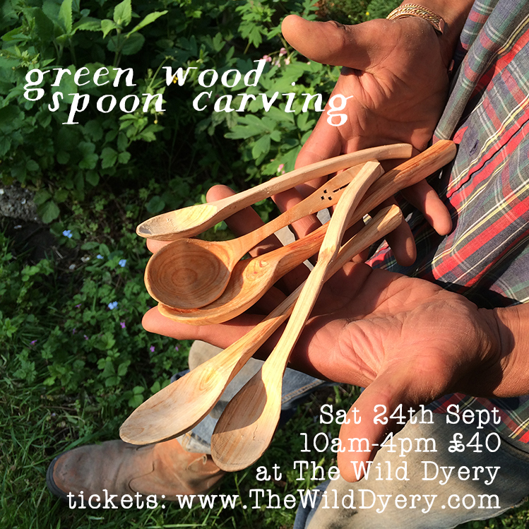 green wood spoon carving with marcus drummond