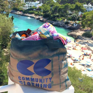community clothing tote bag dye by the wild dyery