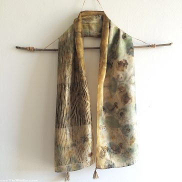 dyers camomile ecoprint scarf