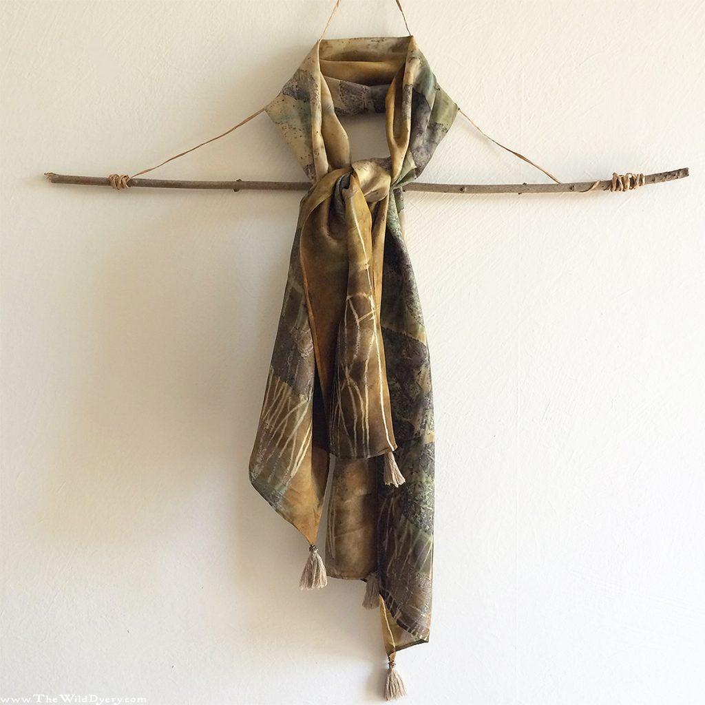 sumac eco print scarf